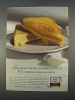 1996 Kraft Free Singles Ad - Grilled Cheese Sandwich