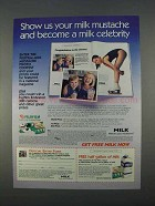 1996 Milk Mustache Contest Ad - Become a Celebrity
