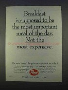 1996 Post Cereal Ad - Breakfast Most Important Meal