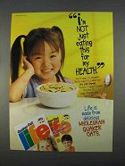 1996 Quaker Life Cereal Ad - Not Just For My Health