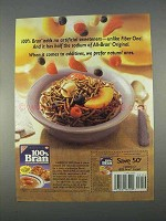 1996 Nabisco 100% Bran Cereal Ad - No Artificial