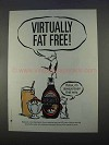1996 Hershey's Syrup Ad - Virtually Fat Free