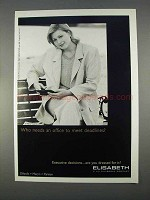 1996 Elisabeth by Liz Claiborne Fashion Ad - Deadlines