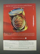 1996 Steel Packaging Council Ad - Not Just Baked Beans