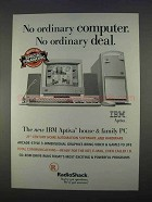 1996 RadioShack IBM Aptiva PC Computer Ad - No Ordinary