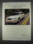 1996 Toyota Avalon Car Ad - Makes Winding Road Soft