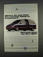 1996 Plymouth Grand Voyager Ad - Second Door on Right