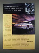 1996 Oldsmobile Aurora Car Ad - Talk About How Fast