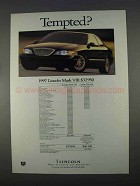 1997 Lincoln Mark VIII Car Ad - Tempted?