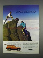 1996 Jeep Cherokee Sport Ad - Tailgate Party