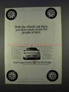 1996 Dodge Neon Car Ad - More Room For People
