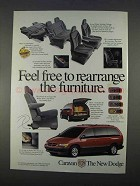 1996 Dodge Caravan Ad - Rearrange the Furniture