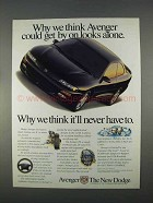 1996 Dodge Avenger Ad - Get By On Looks Alone