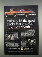 1996 Dodge Ram and Ram Club Cab Pickup Truck Ad