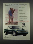 1996 Buick Skylark Car Ad - Makes World More Secure