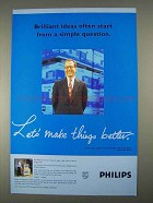 1996 Philips Electronics Ad - Brilliant Ideas Start