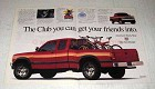 1996 Dodge Dakota Club Cab Pickup Truck Ad