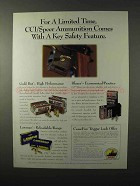 1995 CCI / Speer Ammuntion Ad - Key Safety Feature