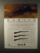 1995 Marlin Rifle Ad - Model 336CS, 1895SS and 1894S
