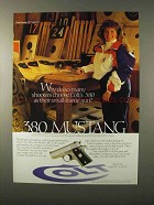 1995 Colt .380 Mustang Pistol Ad - So Many Shooters