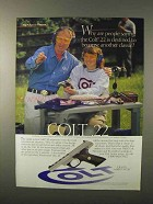1995 Colt .22 Pistol Ad - Become Another Classic