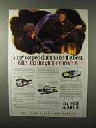 1995 Bausch & Lomb Elite Scopes Ad - Guts to Prove It