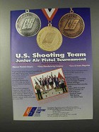 1995 U.S. Shooting Team Ad - Junior Air Pistol