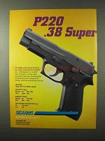 1995 Sigarms Sig Sauer P220 .38 Super Pistol Ad