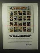 1995 United States Postal Service Ad - Civil War Stamps
