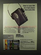 1995 Rayovac Renewal Rechargeable Batteries Ad