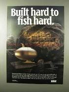 1995 Zebco The Rock I Fishing Reel Ad - Built Hard