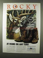 1995 Rocky Cornstalkers Boots Ad - At Home any Turf