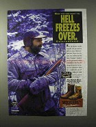 1995 Wolverine Sportsmen Boots Ad - Hell Freezes Over
