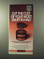 1995 Redwood Tobacco Ad - Cut The Cost in Half