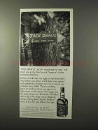 1995 Jack Daniel's Whiskey Ad - This Simple Sign