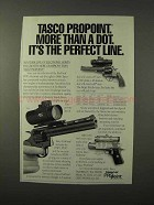 1995 Tasco ProPoint Scope Ad - More Than a Dot