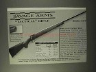 1995 Savage Model 110FP Tactical Rifle Ad!