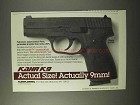 1995 Kahr K9 Pistol Ad - Actual Size! Actually 9mm