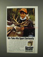 1995 Nosler Bullets Ad - We Take His Sport Seriously