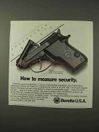 1995 Beretta Model 21A Pistol Ad - Measure Security