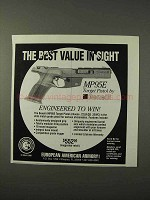 1995 Benelli MP95E Target Pistol Ad - Best Value