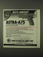 1995 European American Armory Astra A-75 Pistol Ad