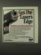 1995 LaserMax LMS-1000 Sight Ad - Get the Laser's Edge