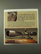 1995 Simmons Gold Medal Silhouette Scope Ad