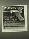 1995 Luger American Eagle Pistol Ad - Stainless Steel