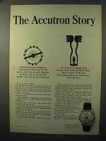 1964 Bulova Accutron Model 412 Watch Ad - The Story
