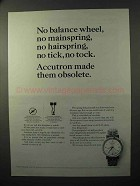 1964 Bulova Accutron Model 209 Watch Ad - Obsolete