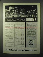 1964 Louisiana State Ad - The $333 Million Boom!
