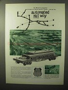 1964 Union Pacific Railroad Ad - Go West for Progress