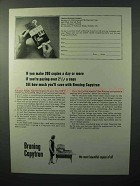 1964 Bruning Copytron Ad - 200 Copies a Day or More